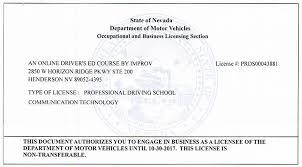 Dmv Application Form Classy Nevada Drivers Ed Online NV Learners Permit Test IMPROV