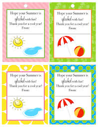 Summer Gift Tags End Of Year Teacher Gift Giggles Galore