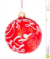 Hand Decorated Christmas Balls Children Drawing Decorative Glass Red Ball Stock Image Image 66
