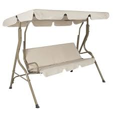 Best Choice Products 2-Person Canopy Swing Glider w/ Removable Cushions -  Beige