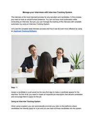 Manage Your Interviews With Interview Tracking System By