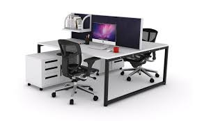 office workstations desks. Desk Fascinating Offie Workstation 2 Person Modern Style Steel Legs Material White Wood Table Top Office Workstations Desks
