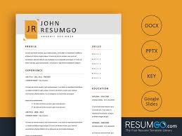 Xerxes Modern Simple Resume Template Resumgocom