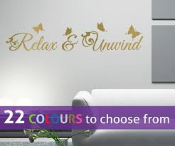 relax and unwind e and erflies wall sticker decal art