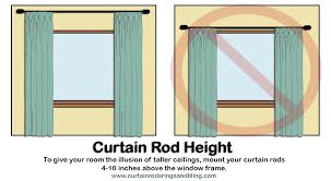 How High To Mount Curtain Rods Gopelling Net