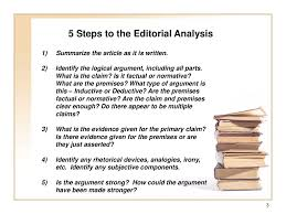Philosophy 1100 Editorial Essay Guidelines Title Critical
