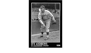 Ivy Andrews baseball card (St Louis Browns Poison 1937 World Series) 1992  Sporting News Conlan Collection #420 at Amazon's Sports Collectibles Store