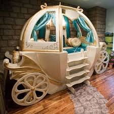 Full Size of Furniture, Enchanting pumpkin cinderella carriage bed white  finish cedar wood frame blue ...