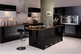 Black High Gloss Kitchen Doors Kitchen Room Design Espresso White Paint Distressed Wooden Panel