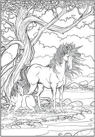 unicorns coloring page mythical creatures fantasy s free printable for personal use only book