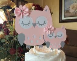 Owl Cake Topper  EtsyBaby Shower Owl Cake Toppers