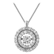 rhythm of love 18ct 1 75ct double halo design diamond pendant jewellery from mr harold and son uk