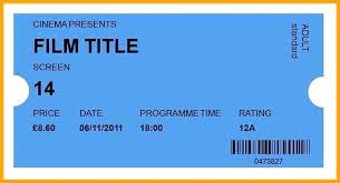 Cinema Ticket Template