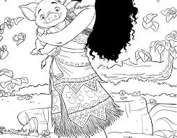Printable Moana Coloring Sheets Stupendous Free Colouring Pages