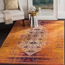 safavieh monaco orange multi color rug 3 x5 area carpet indoor outdoor vintage