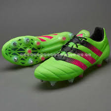 solar green shock pink core black adidas ace 16 1 leather sg