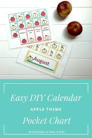 Easy Diy Calendar Pocket Chart Apple Theme Miss Sue Living