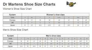 Dr Martens Size Chart Shoe Size Conversion Charts By Brand