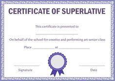 Superlative Certificate 10 Best Superlative Certificate Template Images Certificate Design