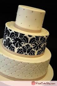 Damask #wedding #cake with #quilting detail / wedding cakes ... & #Damask #wedding #cake with #quilting detail Adamdwight.com