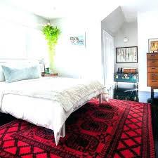 fascinating red rugs for bedroom in black rug