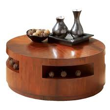 coffee table large round wood coffee table with storage