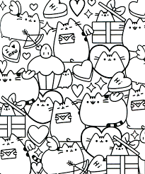 Pusheen Coloring Book Pusheen Pusheen The Cat Pusheen Coloring
