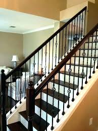 home stair railing iron cost latest rod for stairs ideas inspirations best wrought glass per