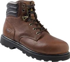 Rucks Mens Steel Toe Safety Work Boots Lace Up Leather Goodyear Slip Resistant