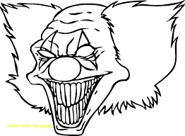 13 Unique Scary Clown Coloring Pages Coloring Page