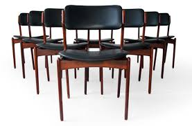 erik buck rosewood dining chairs