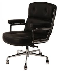 eames office chair replica. Replica Eames Executive Lobby Chair - Black Leather Office