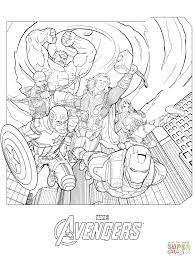marvel coloring sheets marvel avengers coloring page free printable