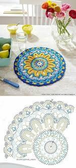 Crochet Patterns Mandala Crochet Doily Chart Pattern