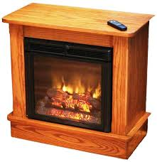 image of amish built electric fireplace