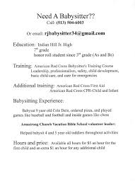 Babysitter Resume Sample Template How To Write A Resume For A Nanny