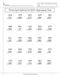 Subtraction Without Regrouping Worksheets Math Worksheets Math ...