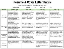 Cover Letter Rubric The Best Letter