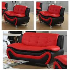 Red leather living room furniture Green Walls Red Quickview Blackred Pinterest Red Living Room Sets Youll Love Wayfair