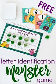 don t feed the monster alphabet game teach your preers letters of the alphabet