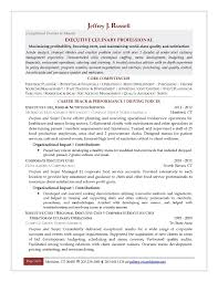 Resume Templates For Chef For Free Executive Culinary Career Track