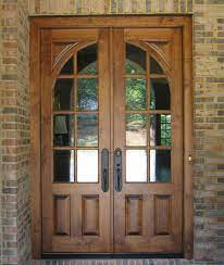 wood front entry doors french exterior