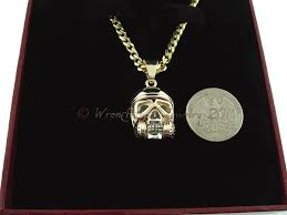 14kt y w gold drag racer skull pendant by robert west of wrenchhead jewelry