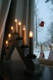 Best Christmas Candle Lights Windows Swedish Christmas Candles In Every Swedish Window All