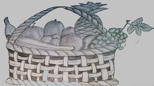 fruit bowl drawing with shading. Perfect Drawing How To Draw Fruit Basket Step By  Pencil Sketch  Inside Bowl Drawing With Shading N