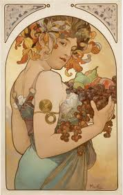 page fruit artist alphonse mucha completion date 1897 style art nouveau modern genre allegorical painting technique lithography dimensions x cm
