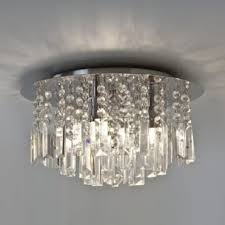 evros flush crystal bathroom chandelier