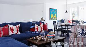 Red And Blue Living Room Patriotic Style Our Favorite Red White And Blue Home Decor