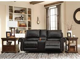 Double Rocker Recliner Loveseat Living Room Milo Double Reclining Loveseat With Console