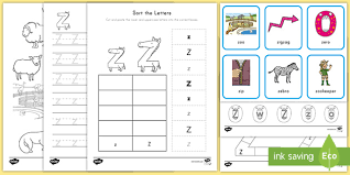 If the document is not opening in your browser, right click on the link and select save link as. Letter Z Worksheet And Activity Pack Alphabet Ela
